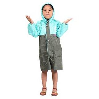Allwin Unisex (Kids)Polyester Raincoat ,P-1139-GREEN-42