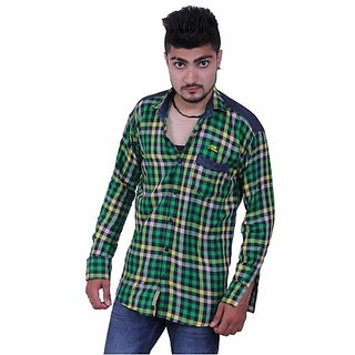 Austrich Green Check Cotton Shirt