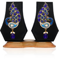 Zaveri Pearls Peacock Hanging Earring For Women - ZPFK1752