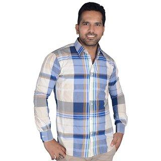 3 Shaded Large Chek Formal Shirt