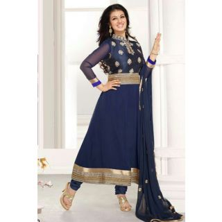 Dashing Diva Blue Semi Stitched Party Wear Salwar Kameez EBSFSK15514