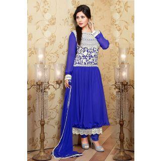 Wonderful Blue Semi Stitched Party Wear Salwar Kameez EBSFSK15516