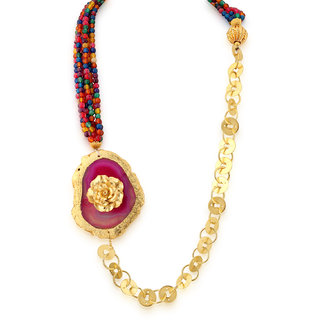 Hsk Gold Brass Fashion Pendant Necklace for women