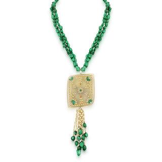 Hsk Grey Kundan Fashion Brass Pendant Necklace For Women