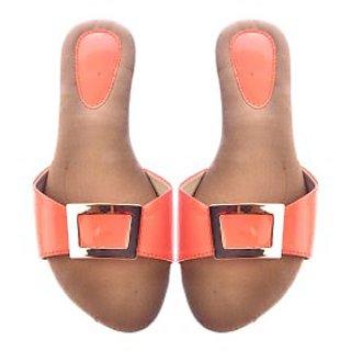 Ladies Sandle peach colours