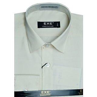 Exe Light Brown Full Sleeve Men's Shirt