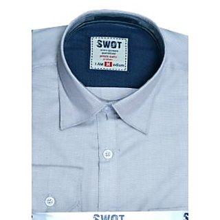 Exe Grey Full Sleeve Men's Shirt (Design 1)