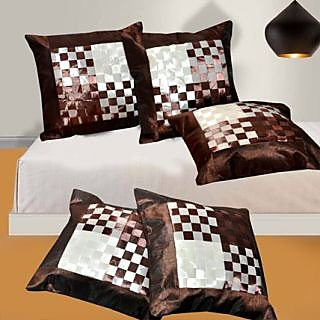 Pack Of 5 Cushion Covers - Chatayi Brown