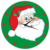 Zeeshan Happy Santa (Green Dial) Printed Wall Clock
