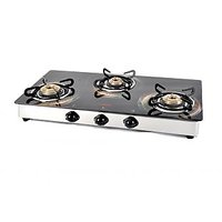 Jindal Designer New O-Series 3 Burner Gas Stove/Cook Top