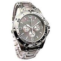Rosra Stylish Analog Silver Metal Wrist Watch - Men