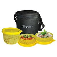 Oliveware Little Lunch Bag With 1 Big + 2 Small Containers