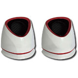 KolorFish S650 USB Speakers - WHITE