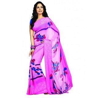 Bhavi Printed Faux Georgette Sari (BHR2501)