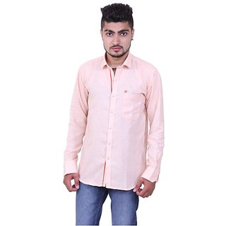 Austrich Light Pink Linen Casual Shirt