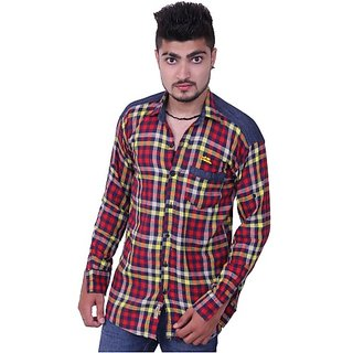 Austrich Maroon Cotton Casual Shirt