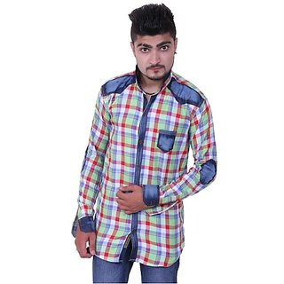Austrich Red Check Cotton Casual Shirt