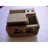Wooden Revolwing Pen,Coaster & Card Holder