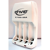 Envie Quick Charger - AA Or AAA 2-4 Battery Cell Charger - Ni-Cd / Ni-Mh