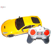 1:18 Scale RC Yellow Sports Car Model With Headlights  Gift