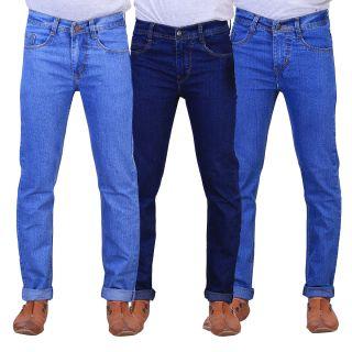 Mens Multicolor Regular Fit Jeans