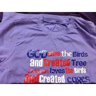 T-Shirt-Round-Cotton-With Caption