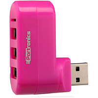 Portronics Portable Peripheral Just Inn Combo Usb And Card Reader Por 462