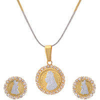 Gold Plated American Diamonds pendant set