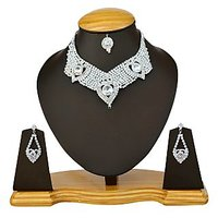 The Pari Silver Plated Silver Necklace Set For Women