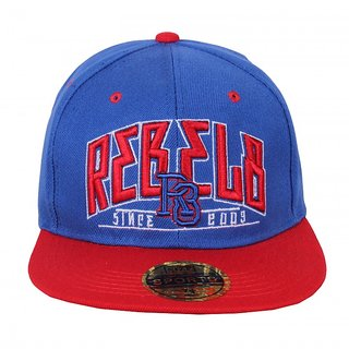 Blue Red Hip Hop Cap For Men JSMFHCP1185