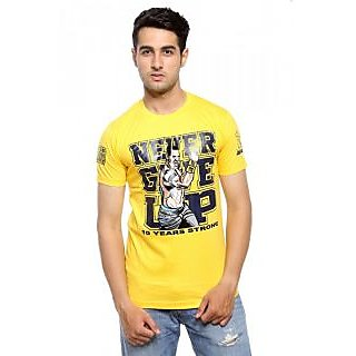 Trendmakerz Yellow Never give up tshirt