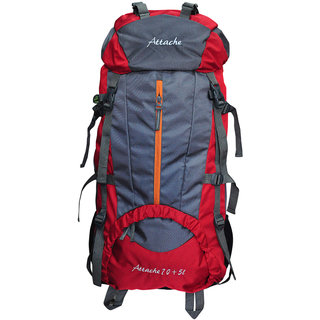 Attache 1021R Climate Proof Rucksack Hiking Bag 75Lt Red
