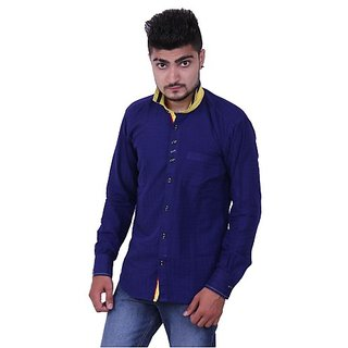 Austrich Blue Collar Casual Shirt