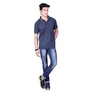 DEUTZ Navy Blue Blended Regular Mens T-Shirt (991)