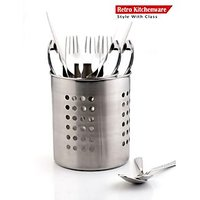 Retro Stainless Steel 12 Spoon With Spoon Stand