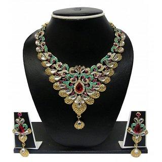 Zaveri Pearls Graceful Petals Grand Necklace Set For Women -ZPFK84