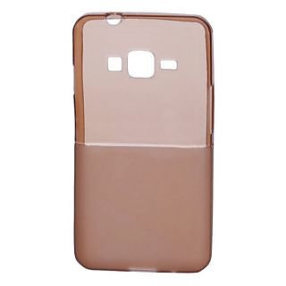 KMS TOTUDESIGN Samsung Z1 Transparent Matte Dualtone Back Cover-Brown