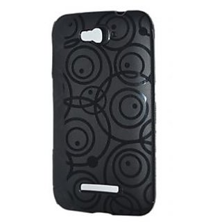 KMS Designer Silicon Back Cover For Idea Ultra+-Black