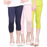 SINIMINI GIRLS TIGHTS CAPRI (PACK OF 3 )-SMTC2005NAVYLPINKMEGANDI