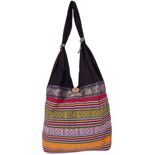 Fashion Bizz handicraft Multicolor jhola bag