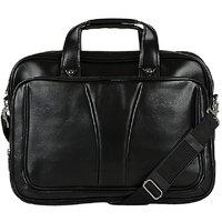 Knott Bold Black Laptop Messenger Bag
