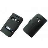Caller Id Flip Case Cover For Samsung Galaxy S3 Mini I8190 Black