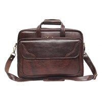 Comfort 15 inch Leather Brown Laptop Bag for men and women EL31