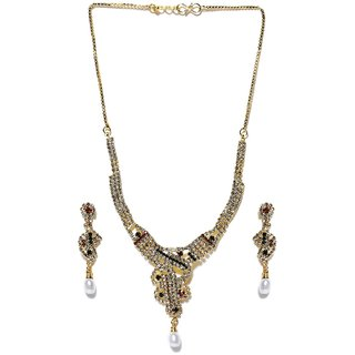 Aakshi Heere Moti Haar 3-Pc Jewellery Set
