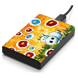 meSleep Painted Dog Hard Drive Skin