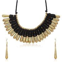 Urthn Exclusive Design Black Necklace Set - 1104718