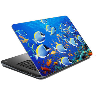 meSleep Blue Fish Laptop Skin