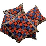 Handblock Bagru Print Cotton Cushion Cover Set 305 204180