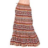 Exclusive Designer Colourful Cotton Long Skirt 113