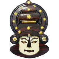Keralashopee Rosewood and other wood combined kerala traditional Kathakali Face